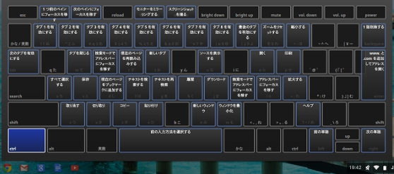 chromebook acer c720 キーボードヘルプ
