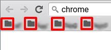 Chromebook ブックマークバーのフォルダの色