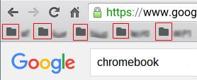 Chromebook ブックマークバーのフォルダの色が黒になった・・・
