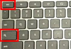 Chromebook タスクマネージャー起動